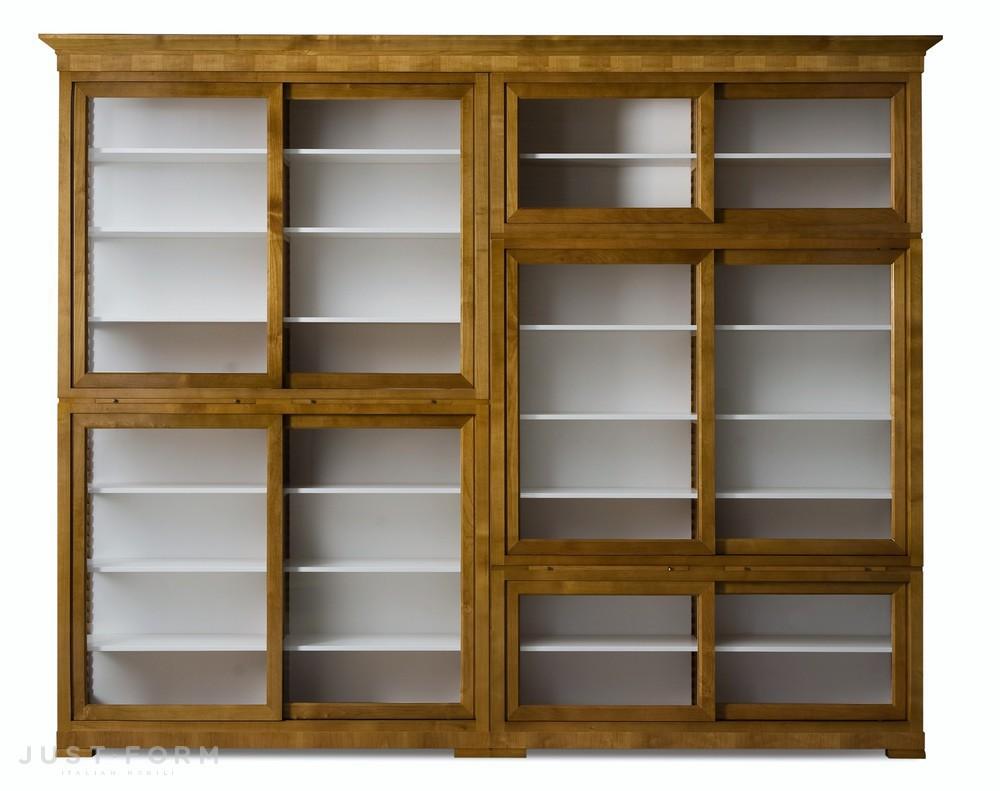 Книжный шкаф modulo biedermeier. фабрика morelato. прямая по.