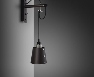 Настенный светильник Hooked Wall / Small / Graphite / Steel Арт. UK-HKW-TO-S-GR-ST